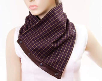 sale -Mens neckwarmer scarf ,snap scarf