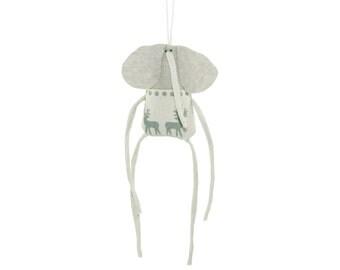 Elephant Hanging Ornament, Tiny Elephant Plush Wall Hanging, Animal Wall Decor, Plush Elephant Handmade Ornament