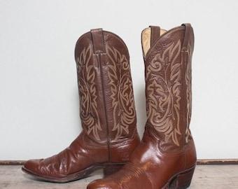 SALE 9 D | Men's Justin Brown Western Cowboy Boots