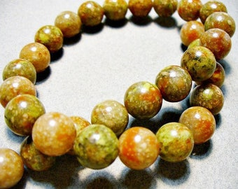 Unakite Beads Round 10mm