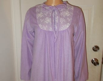 Bernette Fleece Robe Vintage Robe Warm Soft Lavender Purple New Old Stock Tags