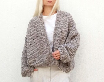 Merino Wool Slouch Cardi. Choose Your Color.