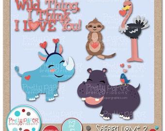 Safari Love 2 Cutting Files & Clip Art - Instant Download