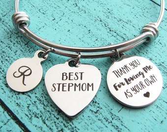 stepmom wedding gift, Mothers Day gift for stepmom, thank you for loving me as your own, gift for stepmom of the groom, stepmom of the bride