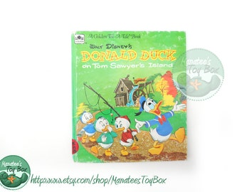 Vintage Donald Duck on Tom Sawyer's Island 1960s Disneyland Kids Book