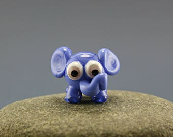 Glass lampwork elephant bead / sculpture/ figurine / miniature