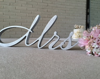 Wedding sign Silver  Mr. and. Mrs.. signs.  Wedding signs. Top table decor wooden signs.Wooden letters.