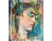 Original Figure Painting oil on board - HaedB12916- 9 x 12 inches