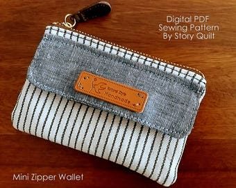 Quick and easy bag pattern | purse sewing pattern | wallet sewing pattern | zip pouch | zipper pouch | bag pattern | wallet tutorial