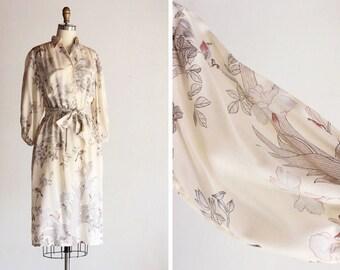 1970s Botanical Garden Dress