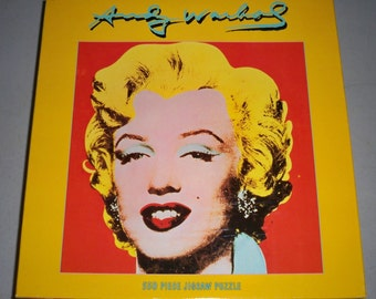 "Vintage 1998, 500 Piece Puzzle Inspired By Andy Warhol's ""Shot Red Marilyn"" 1964 Art"