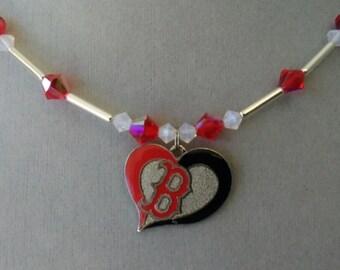 Boston Red Sox Swarovski Crystal Necklace