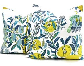 Citrus Garden Decorative Pillow Cover Pool  18x18, 20x20, 22x22, Eurosham or Lumbar Pillow, Schumacher Josef Frank pillow cover