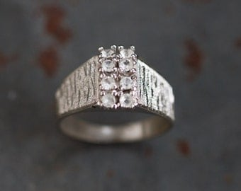 Art Deco Ring - Sterling Silver - Vintage Ring Size 6.5