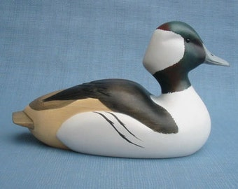 Hand carved Bufflehead Duck Decoy