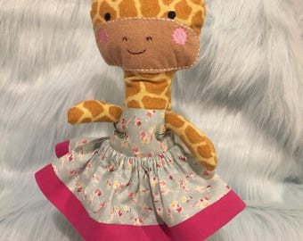 11 Plush Giraffe Dress Up Doll Ready to Ship