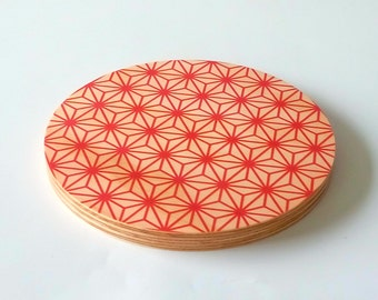 """Objectify """"Red Pattern"""" Small Serving Platter and Cutting Board"""