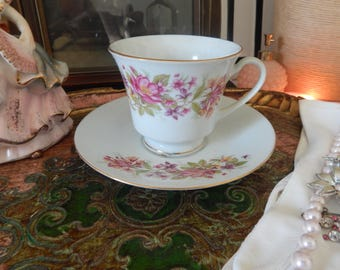 Vintage Tea Cup and Saucer Made in China