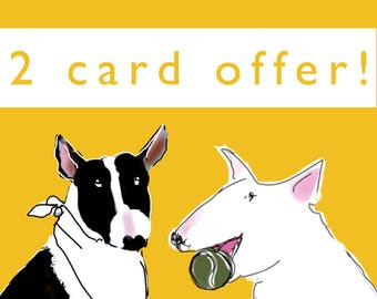 Jolly Dogs 2 Card Pack Special Offer Choose any 2  blank cards