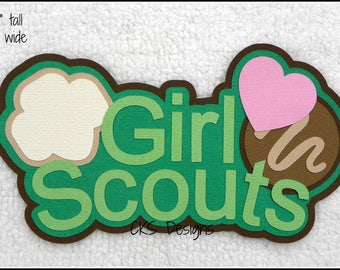 Die Cut Girl Scouts TITLE Scrapbook Page Embellishments for Card Making Scrapbook or Paper Crafts