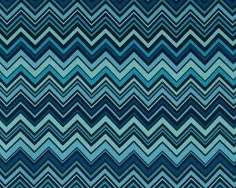 90444 Valori Wells Novella collection Zig Zag in Blue  color Home Dec fabric SAVW023- 1 yard
