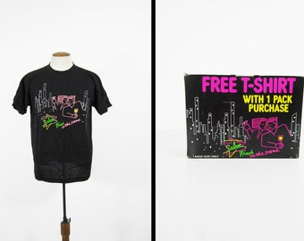 Vintage Salem Cigarettes T-shirt NOS in Box Black Fresh on the Scene - Size Large