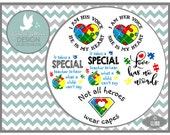 Autism Love Has No Words I am His Voice LL180 - SVG - Cut File - Includes ai, svg (for Cricut) , dxf (for Silhouette users), png, jpg