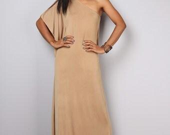One shoulder dress /  Champagne dress / Bridesmaid dress : Elegant Collection