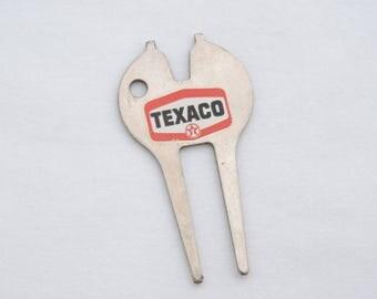 Vintage 1970's Texaco Advertising Golf Divot Tool