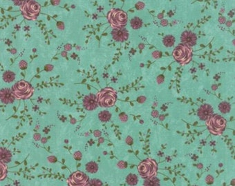 Prints Charming - Teal Floral by Sandy Gervais from Moda