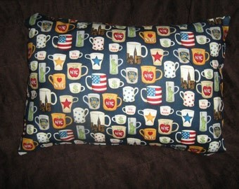NEW YORK/Manhattan MUGS  Travel/Accent/Lumbar pillow cover