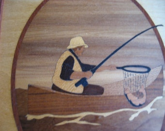 Hudson River Inlay Fisherman Picture