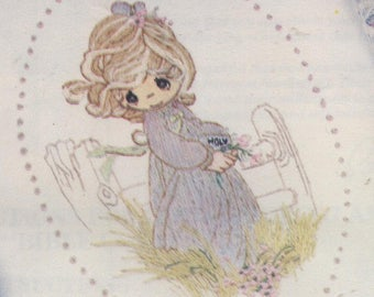 Precious Moments - Bible Cover with Little Girl - Embroidery and Felt Applique Kit
