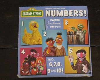 Vintage Children's Record-Numbers!-Sesame Street-Jim Henson-Muppets