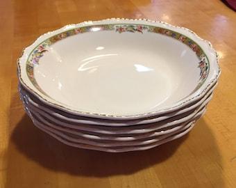 Vintage Steubenville Ivory #346 set of 6 soup bowls, 30s Steubenville, 40s Steubenville, vintage china, mcm china