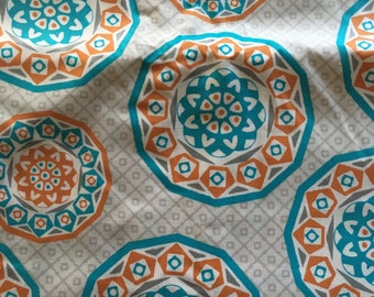 Gray Medallion Fabric by the Yard
