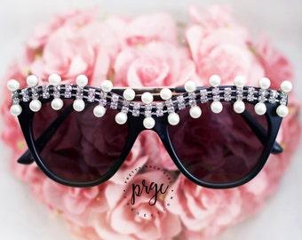 Embellished  sunglasses, cat eye Sunglasses, Aviator sunglasses, Jeweled, wayfarer, barbie sunglasses, Crystal Sunglasses, white sunglasses