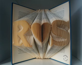 wedding gift for the couple-folded book art-support gay marriage-personalized gift-unique mementos