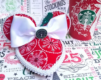 Red Cup Snowflakes FascinEars™  Mouse Ear Fascinator