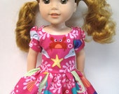 Mermaid Sisters, Short Sleeved Dress for your 14.5 Inch Doll