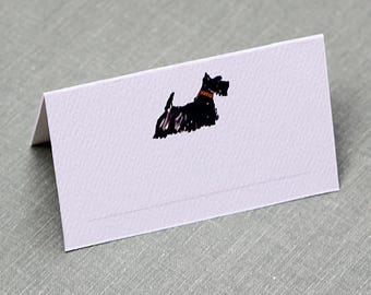 Place Cards with Scotty, Scottish Terrier, set of 12