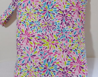 "Large wet bag. 13"" X 16"". Color Splash print fabric.Heat sealed seams. Ready to Ship"