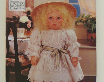 Linda Carr Doll Pattern, Vogue Craft 8240, 18 inch Doll, Victorian Doll Clothes, Face Transfer, Soft Rag Doll, Dress Bloomers Tights Shoes
