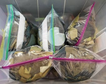 2 LB bag | Assorted Green & Olive Leather Scrap | Laser Cut | Leather Remnants | Leathercraft | DIY | Great 4 Small Handcraft Projects!