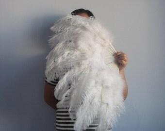80*45cm Large   Burlesque Dance  feather fan Bridal Bouquet white, red, turquoise,Royal Blue,black