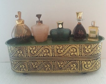 Now On Sale Vintage Perfume Bottle Parfume Collectible Bottles Set of 6 Lot Mad Men Mod Hollywood Regency Mid Century Modern Vintage Vanity