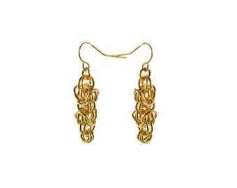 Gold Tryzantine Earrings
