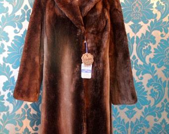 Vintage Beaver Coat Gorgeous Large