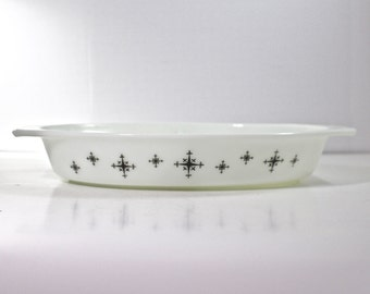 Vintage Pyrex Compass Snack Server Promotional Divided Dish