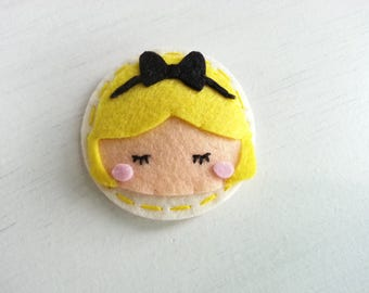 Alice in the Wonderland Felt Hair Clip